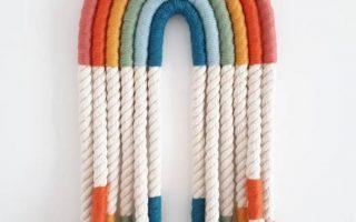 Regenbogen Makramee Wandbehang / Dekoration - mehrfarbig mehrfarbig - Faser Faser Wandkunst - ideal für Kinderzimmer