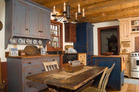 beste farben für rustikale küchenschränke