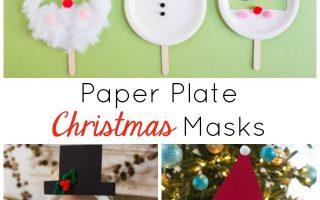 Kids Week: Pappteller-Weihnachtsmasken - Design Improvisiert