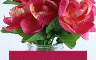 Wie man Wachs getauchte Rosen oder Blumen macht. Dies ist eine süße und günstige Valentinstagsdekoration für Zuhause, für Tische, fürs Büro, fürs Schlafzimmer ...