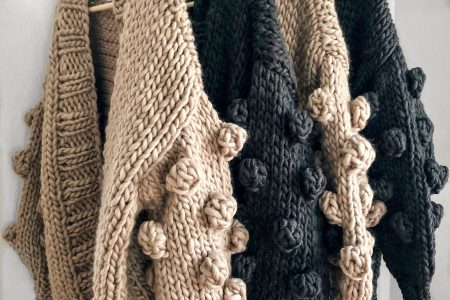 Übergroße Strickjacke aus Merinowolle. #Nickichicki Amazebobble Cardigan Sweater. Frauenstil. Herbstmode. Outfit-Idee. Handgestrickte ...
