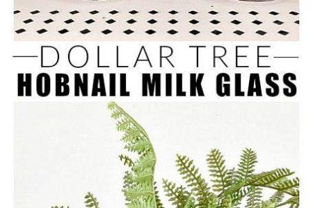 Dollar Store DIY: Wie Hobnail Milchglas machen
