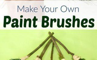 DIY Natur Pinsel für Kinder - AppleGreen Cottage