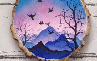 6 erstaunliche Holzplatte Kunst für Inneneinrichtungen - Malideen für Anfänger