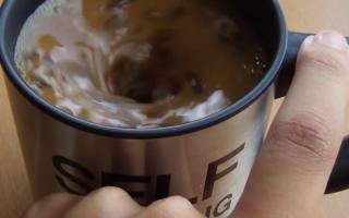 Selbstrührende Kaffee-Tasse Tasse