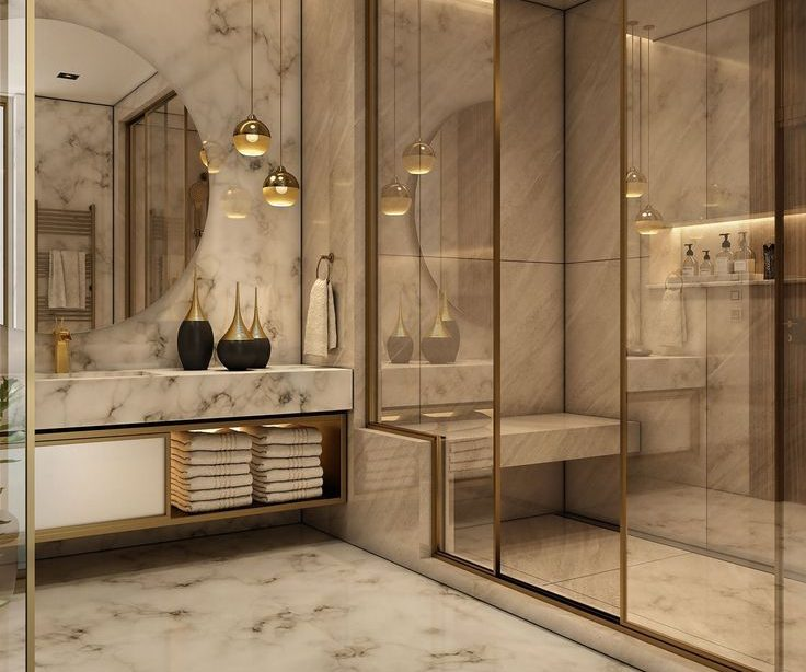 Bezaubernde luxuriöse Badezimmerdekorationsideen 033 - Home Decoraiton