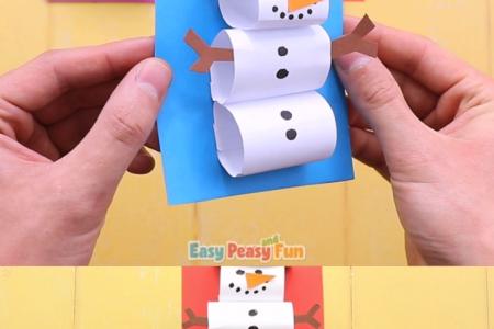 Wie erstelle ich einen Papier-Schneemann?