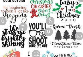 16 kostenlose Weihnachts-SVG-Dateien + Cricut EasyPress 2 Review
