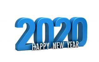 Frohes neues Jahr Grußkarte. 3D-Farbgestaltung. hohe Auflösung