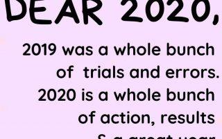 Frohes neues Jahr zitiert Inspirationsbestätigungen 2020