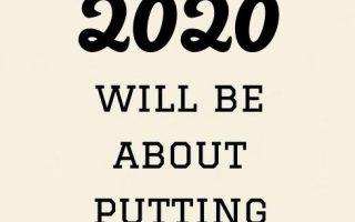 Positives neues Jahr zitiert Inspiration 2020