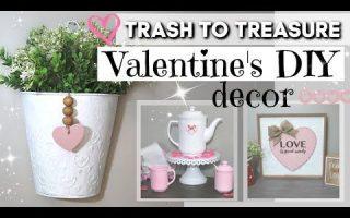 Trash to Treasure Valentinstag DIYS | DIY Valentinstag Dekor 2020 | KRAFTS BY KATELYN - Trash to Treasure Valentinstag DIYS | DI ...