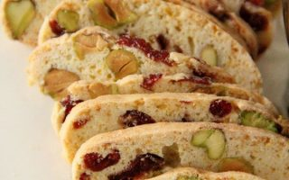 Cranberry und Pistazien Biscotti