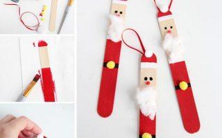 Popsicle Stick Santas (ein kleines Projekt | ein kleines Projekt)