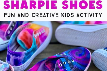DIY Sharpie Tie Dye Schuhe - Spaß liebende Familien