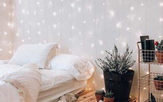 21 Kuschelige Deko-Ideen mit Lichterketten im Schlafzimmer