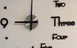 Dekorative 3D Uhr