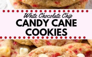 Weiße Praline Cane Cookies