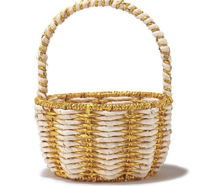 Golden Easter Basket - Beste Dekoration Ideen