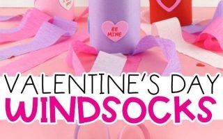 Herz Windsack Valentinstag Craft für Kinder