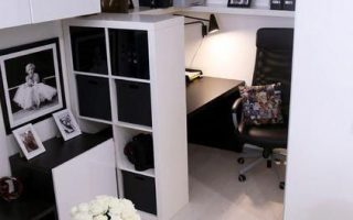 Zeitgenössisches, superkleines Heimbüro mit Möbeln von IKEA. #Homeofficeid - ...