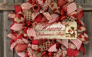 Happy Valentines Day Kranz - Valentinstag Kranz - Valentinstag Kranz - Red De ... - Happy Valentines Day Kranz - Valentinstag Kranz - V ...