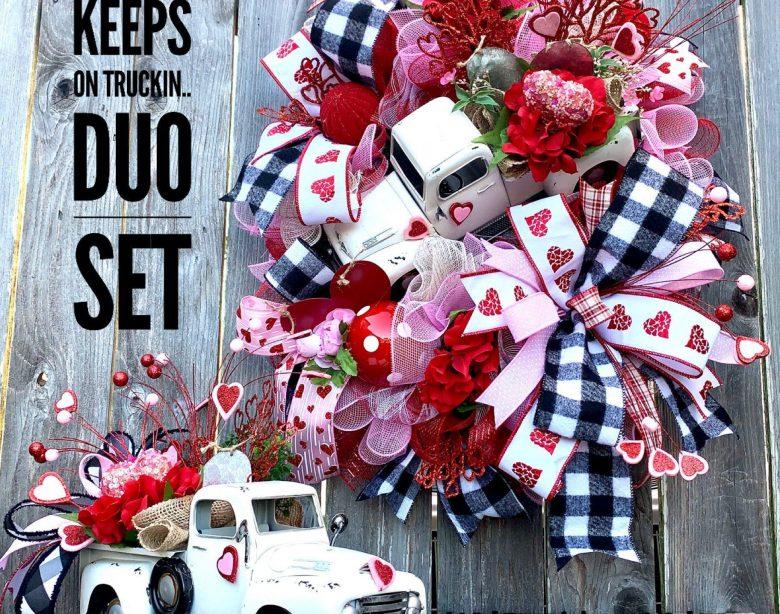 Valentinstag Kranz, Valentinstag Truck Kranz, Valentinstag Kranz, Valentinstag Duo Set, Val ... Valentinstag Kranz, Valentinstag LKW Kranz, ...