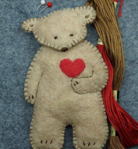 Bären! Bären! Bären! pdf sofortiger Download Muster Wald Plüschtier handgemachte Filzverzierung