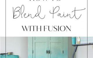So mischen Sie Farbe, um einen Ombré-Effekt zu erzielen • Fusion ™ Mineralfarbe - Furniture