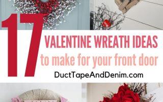 7 Valentine Kranz Ideen für Ihre Haustür zu machen