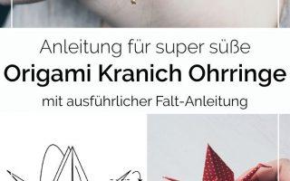 DIY Origami Kranich Ohrringe selber machen • Ja Handgemacht