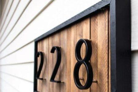 Modern   Wohnkultur   DIY   Kreativ   Holz   Schwarz   Hausnummer - #Creative # ...