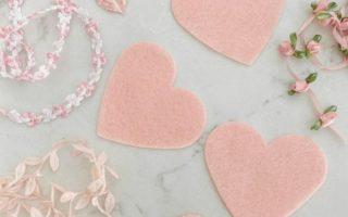 Valentinstag-Herzen - kein nähen Sie Handwerk