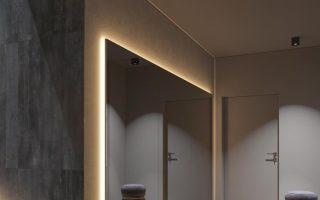 Dunkelgrauer Wohnkultur mit wärmerer LED-Beleuchtung - #Dunkelgrauer #interior # LE… - Wohnideen