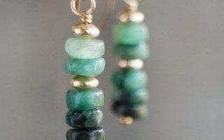 Rohe Smaragd Ohrringe kann Birthstone Geschenk für ihr 14k sein - Rohe Smaragd Ohrringe kann Birthstone Geschenk für ihr 14k sein ...