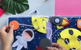 25 + ›Pikabook Ruhiges Beschäftigtes Buch, Kleinkind Entwicklungsbuch, weiches Babybuch, sensorisches Buch