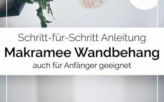 DIY Makramee Wandbehang selber machen • Ja Handgemacht