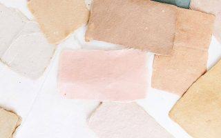 eine von handgeschaltungsem Papier inspirierte Farbpalette - Mein Blog