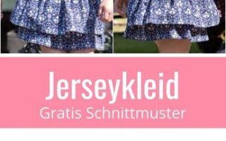 Mädchenkleid mit Volants - Freebook Gr. 74 - 164   Nähtalente