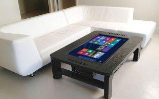 Der riesige Couchtisch-Touchscreen-Computer