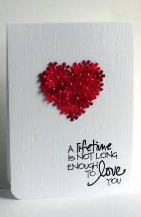 9 handgemachte Valentinskarten