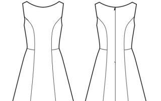 Sommerkleid in der A-Linie für Damen - gratis Schnittmuster