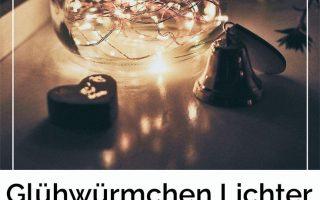 DIY Hochzeitsdeko: Gläser mit Glühwürmchen Lichter • Ja handgemacht