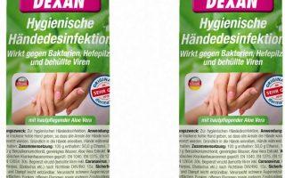 Dexan 1000ml Händedesinfektionsmittel Handdesinfektion Made in Germany