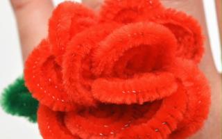 Wie man Pfeifenreiniger Rosenringe macht