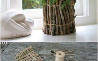 25 günstige und einfache DIY Haus- und Gartenprojekte mit Stöcken und Zweigen #projectst ...