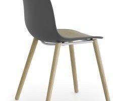 Lapalma Seela S313 Stuhl weiß lackiert / schwarz gebeizt offenporig weiß / Kun ...