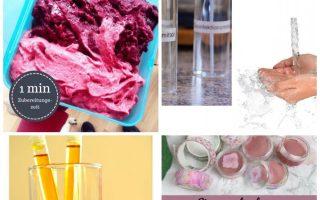 Eis selber machen ohne Eismaschine vegan sauber zuckerfrei einfach in 3 Minuten Eis Rezept zum Selbermachen Erdbeereis Schokoeis Bananeneis f ...