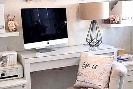 Hübsche Home-Office-Ideen für Frauen - Schöne glamouröse Home-Office-Inspiration nur für sie
