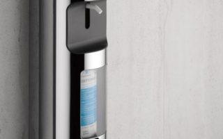 Keuco Plan Flüssigseifen- und Desinfektionsmittelspender chrom / schwarz - 34954010100